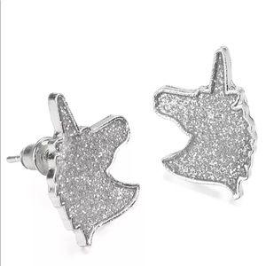 ✨New! Mystic Unicorn Sandblast Stud Earrings